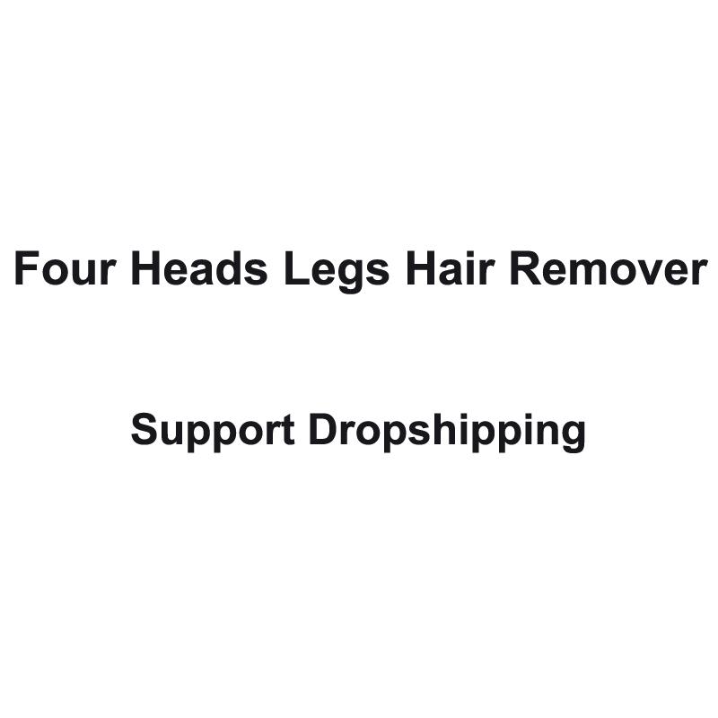 Vier Köpfe Rasierer frauen Körper Haar entfernung gerät Unterstützung Dropshipping Kleine Klimaanlage Geräte Fans