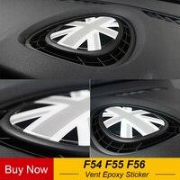 Tablero de instrumentos A/C salida de ventilación 3D Crystal Union Jack pegatina epoxi pegatina decoración interna coche estilo para Mini Cooper F54 F55 F56|Pegatinas interiores automotrices| |  -