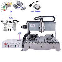 CNC 6040 Wood Router 4 Axis 1.5KW USB CNC Engraving Milling Machine for Metal Working