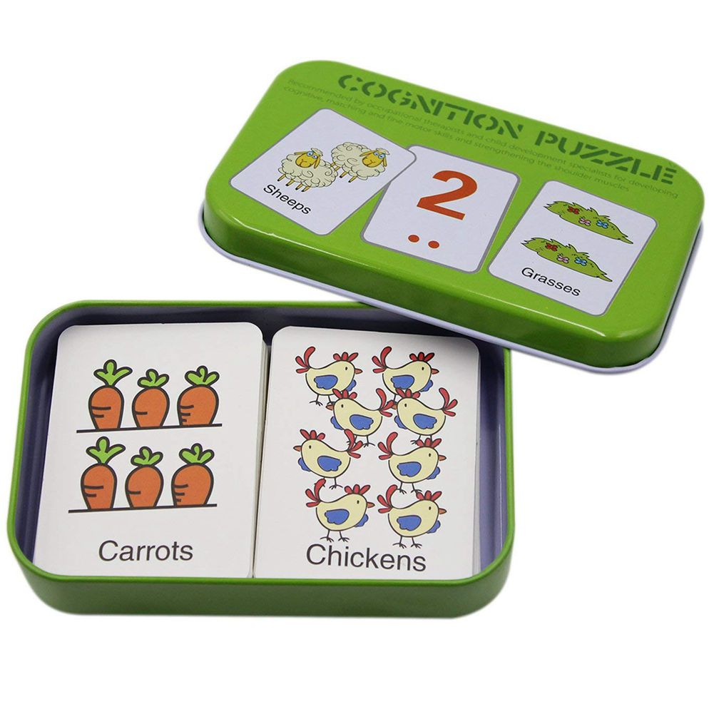 SANQ Anti-Tear Flash Cards Learning Alphabet Puzzle Cards, Matching Puzzle Cognitive Early Educational Learning Toys Mental
