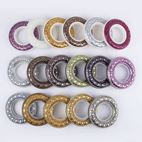 5 Sets Wholesale Curtain Tie Rings Plastic Curtain Rods Ring Eyelet Curtain Accessories Home Decoration Color