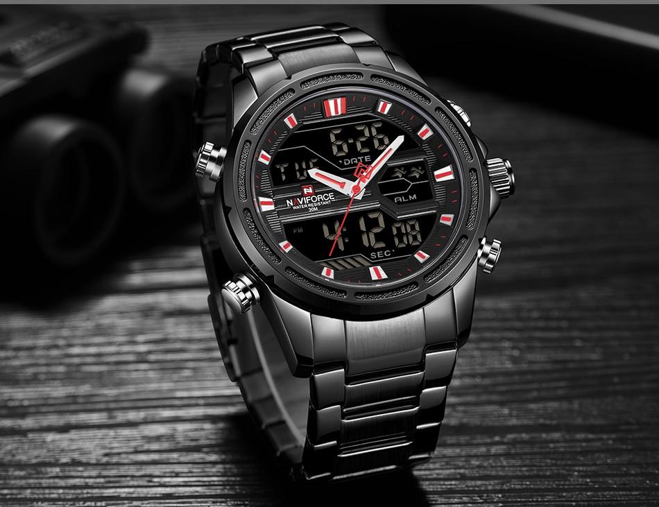 Top Luxury Brand NAVIFORCE Men Watches Military Waterproof LED Digital Sport Men's Clock Male Wrist Watch relogio masculino 9