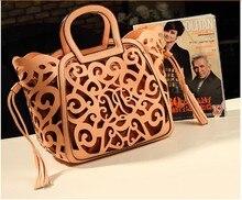Frauen frau Fringe Quaste aushöhlen berühmte marke leder tote designer handtaschen messenger bags bolsa franja bolsos mujer 40
