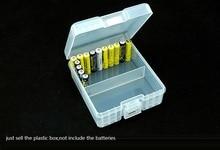 5pcs/lot AAA Battery Storage Boxes for 100 pcs batteries Organizer Transparent case Moisture-proof