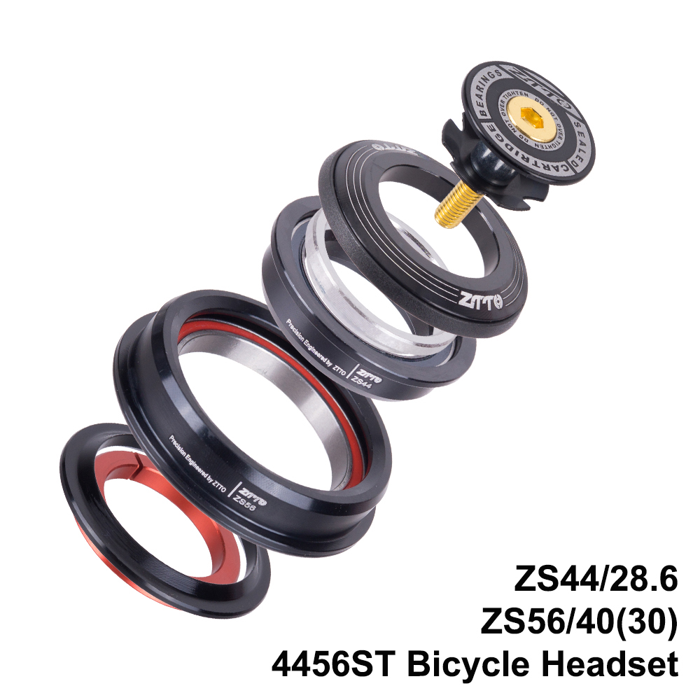 Garfo em Linha Rolamento sem Rosca Fone de Ouvido para Mtb Mountain Bike Headset Tubo Cônico Reta Zs44 Zs56 Bicicleta Passo Tampa Superior 44mm 56mm