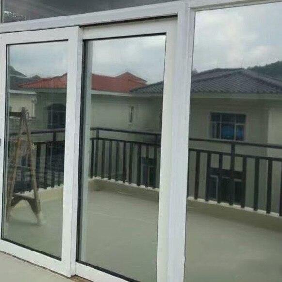 Dos lados plata espejo ventana película aislamiento Solar tinte pegatinas UV reflectante una forma privacidad decoración para vidrio