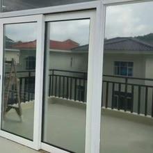 Двусторонняя серебряное зеркало окна плёнки изоляции Солнечный самоклеящиеся листы с оттенком УФ отражающие один способ уединения украшения для стекло