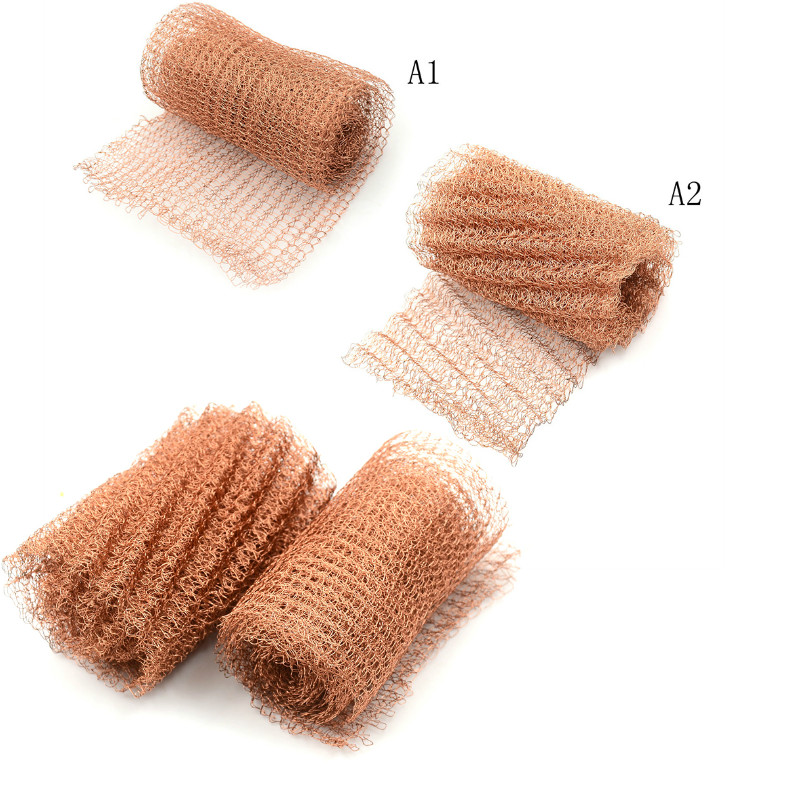 1 PC 100mm Width Corrugated Copper Mesh For Distillation Reflux Moonshine Brewing Pest Control