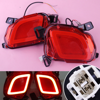 DWCX 2pcs Car 12V LED Rear Bumper Brake Tail Lights Turn Signal Lamps DRL 2 Pin