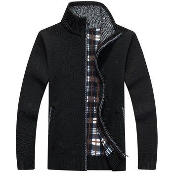 Winter Warm Cashmere Wool Zipper jackets 1