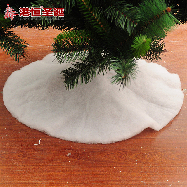 Christmas Tree Skirt Holiday Style White Felt Snowflake Decoration For Home