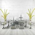 9-11 шт/набор украшения дисплея металлический золотой серебряный круглый высокий чай подвесная чашка кекс поднос Хрустальный торт подставка...