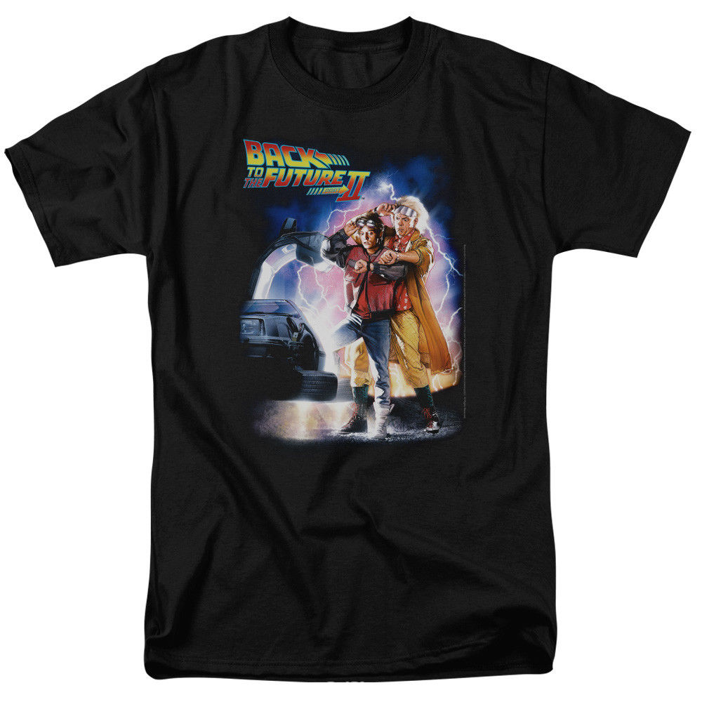 Back To The Future Ii Poster Licensed Adult T Shirt