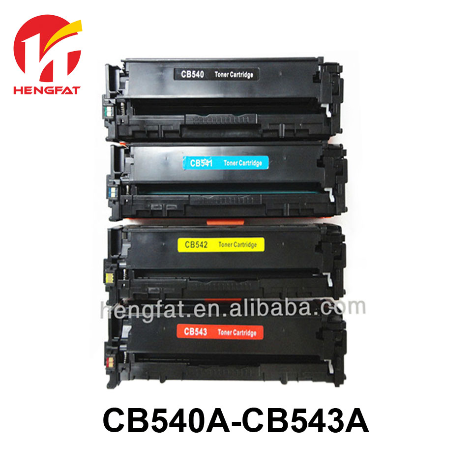 2PCS Compatible Color Toner Cartridge CB540A 540A 540a CB541A CB542A CB543A 125A for HP LaserJet CP1215 CP1515n CP1518ni CM1312 replacement chip for hp laserjet q7553a print cartridge toner refill compatible with hp2015