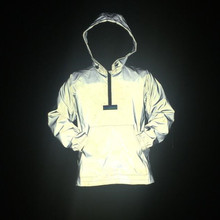 Новое поступление, Мужская толстовка, светоотражающий пуловер, куртка с длинным рукавом, в стиле хип-хоп, уличная одежда для пар, пальто, Мужская Повседневная Толстовка