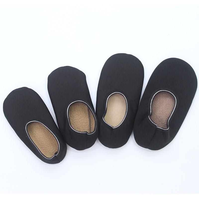 1 Para Neue Dame Männer Weiche Abgabe Gleitschutz Große Größe Boden Socken Thermische Verdickung Samt Schwarz Heim Niedrigen Kurze Socke Yogo Tanz