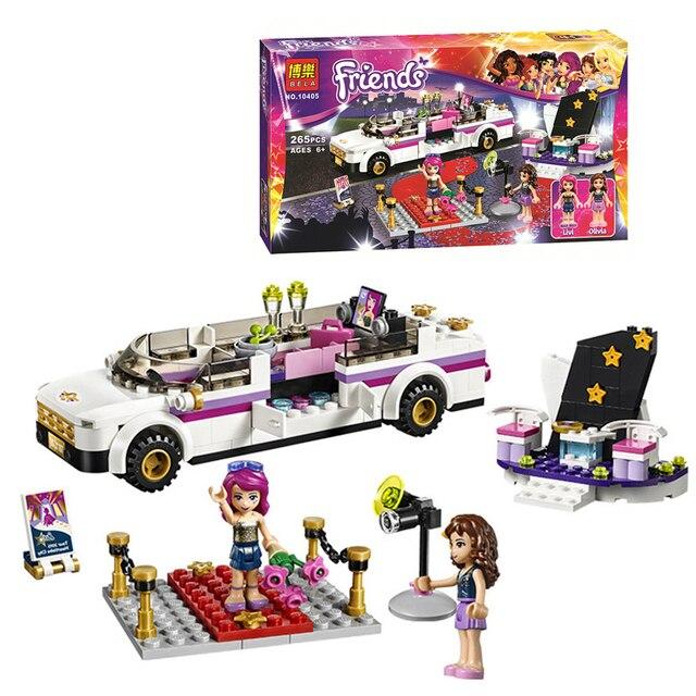 Bela amigos 10405 serie de coches de Lujo de la Estrella del Pop 265 unids lepin compatible bloques de construcción de juguetes para niños de regalo