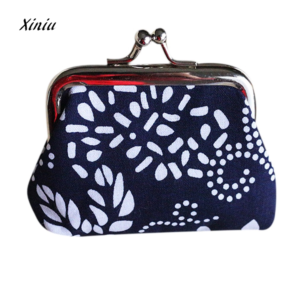 Retro Vintage Style Women Small Wallet Credit Card Holder Flower Print Ladies Girls Casual Coin Purse Clutch Handbag Bag Hot casual weaving design card holder handbag hasp wallet for women