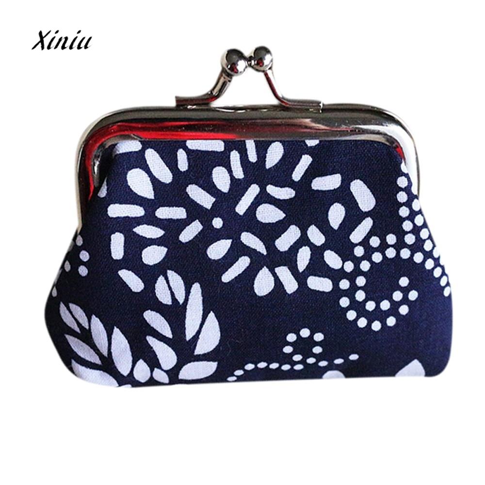 Retro Vintage Style Women Small Wallet Credit Card Holder Flower Print Ladies Girls Casual Coin Purse Clutch Handbag Bag Hot