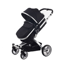 Certificate Deluxe Foldable Baby Pram / Baby Carriage / High Landscape Mother Baby Stroller 3 In 1 Infant Stroller  Baby Luxury