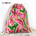 TANGIMP 2017 Watermelon Women Canvas Drawstring Backpack Vintage College Students School Bagpack Girls Mochila Feminina Sack Bag