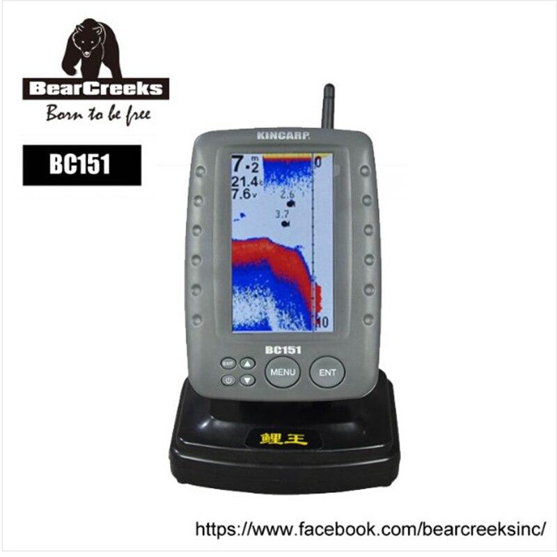 BearCreeks Digital fish finder BC151 color screen fishingfinder BearCreeks baitboat dedicated
