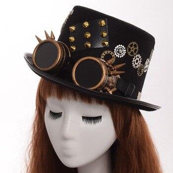 Шляпа в стиле стимпанк с очками в ассортименте вариант 3 1