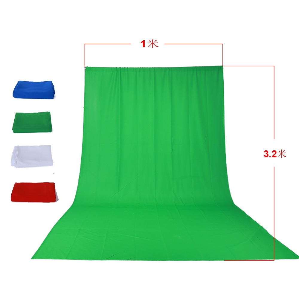 Green/White/Blue/Red Screen Cotton Muslin Background Photography Backdrop Lighting Studio Video Photo Chromakey