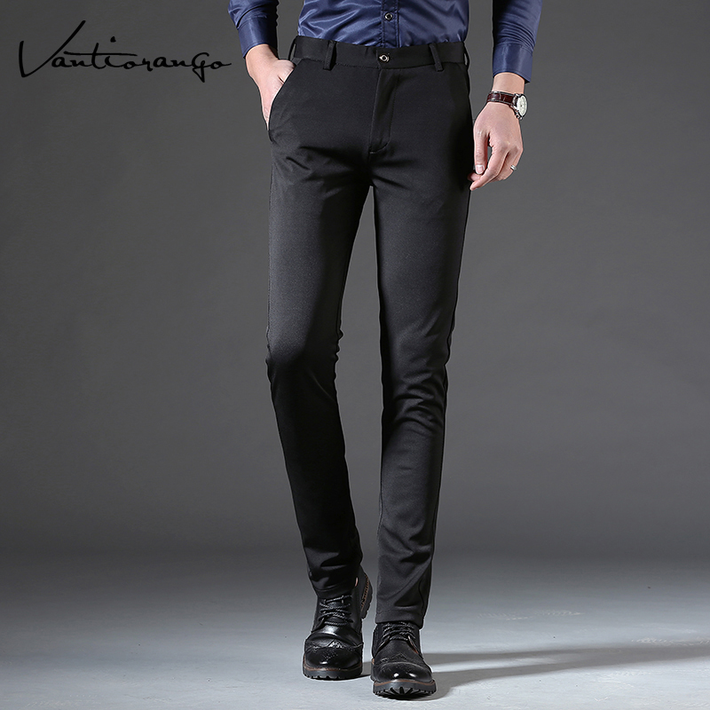 2ee98258c90 Vantiorango Men Pants New Spring and Autumn Fashion Solid Colors Zipper  Slim Straight Business Casual Trousers LTT00069