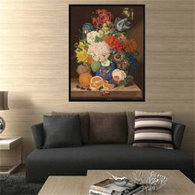 Multicolor Flowers and Fruits Oil Handpainted Artwork Room Decor 1 Piece Wall Art Painting Print Canvas Best Gifts Drop Ship