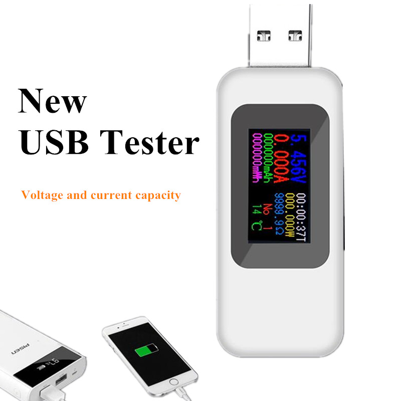 8 In 1 USB Tester DC Voltmeter Current Voltage Meters Power Bank Battery Capacity Monitor QC2.0 3.0 Charger Detector 40%off