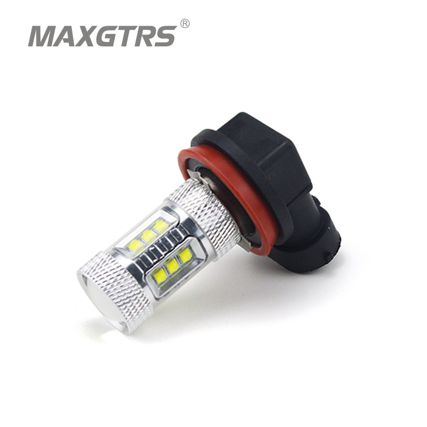 2x <font><b>H8</b></font>/H11 9005 9006 80W <font><b>CREE</b></font> Chip XBD <font><b>LED</b></font> White 6000K Fog Tail Headlight Bulbs Auto Driving Daytime Running Light Car Head Lamp image