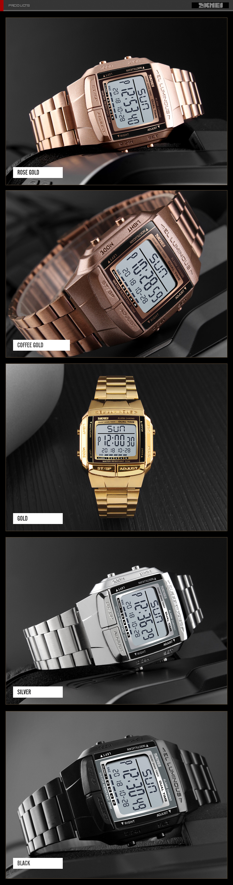 DAPS - RETRO DIGITAL WRIST WATCH FOR MEN