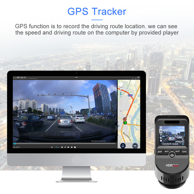 Junsun 4K Ultra HD GPS Car Dash Cam 2160P 60fps ADAS Dvr with 1080P Sony Sensor Rear Camera Night Vision Dual Lens Auto Dashcam