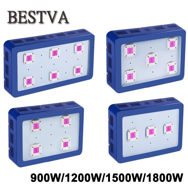 BESTVA Led crece la luz 900 W 1200 W 1500 W 1800 W COB Chips espectro completo para plantas de interior led lámparas invernadero crece la luz led