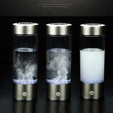 Hygrogen غني زجاجة ماء 400 مللي المحمولة مولد ماء الهيدروجين زجاج بوروسيليليك مرتفع سريع التحليل الكهربائي الهيدروجين صانع
