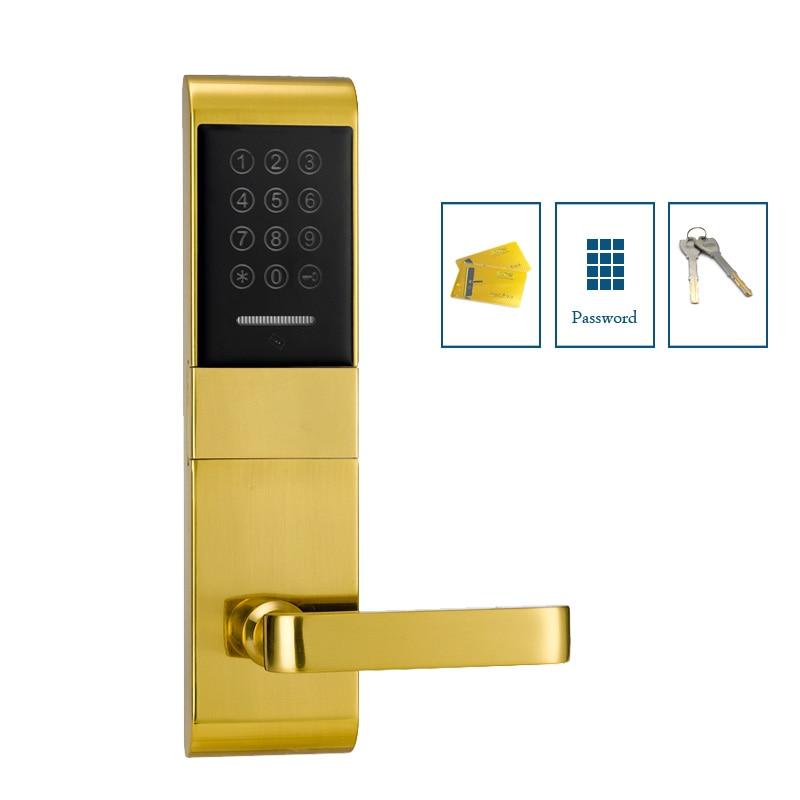 Apartment combination door lock M1 card keyless entry door lock with mechanical keys my apartment