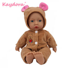 10 inch bebes reborn doll New Handmade cloth body reborn lol baby adorable Lifelike toddler Bonecas girl kid KAYDORA(China)
