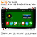 GreenYi 2 Din 9 Inch Capacitive Screen Car Android 5.1 Head Unit for Mercedes/Benz B200 W169 A160 Viano Vito GPS NAVI RADIO BT