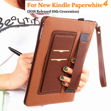 NINJACASE Multifunction Case For Funda Kindle Paperwhite 4 (10th Generation-2018 Release) eReader Handheld Stand PU LeatherCover