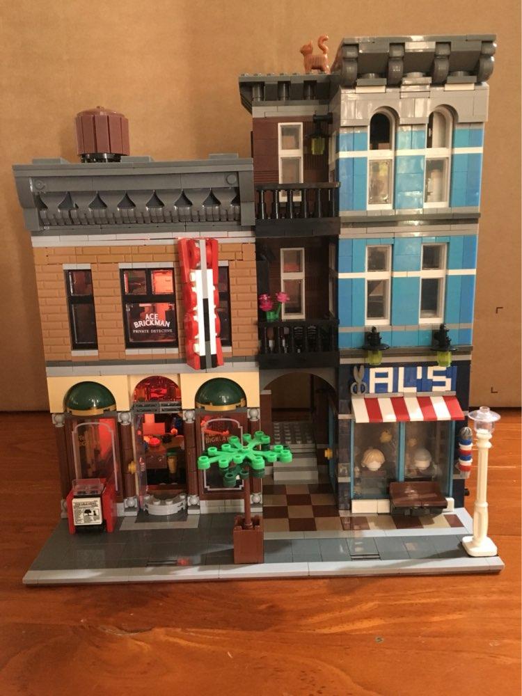 lepin 15011 2262Pcs City Street Detective's Office creator Model Building Kit Blocks Bricks Toys compatiable 10246 city street 15010 lepin series expert parisian restaurant house creator model building blocks bricks compatiable 10243