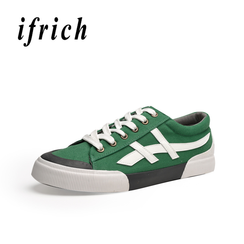 New Style Men Fashion Casual Shoes Red Green Men Canvas Flats Footwear Classic Canvas Shoes For Boy Designer Trainers Mens