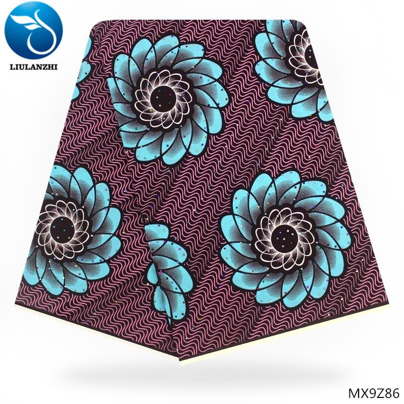 LIULANZHI africain cire imprime tissu 6 yards en gros africain cire impression tissu africain ankara tissu pour vêtements MX9Z77-94