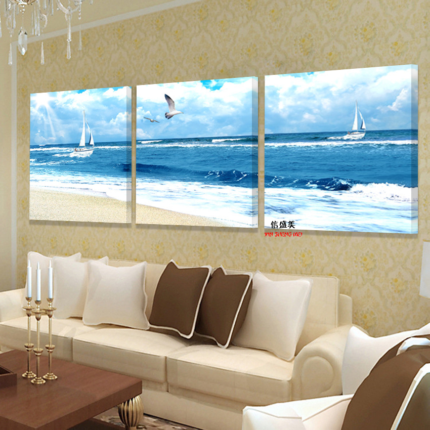 Buy modern oil paintings large wall - Landscape paintings for living room ...