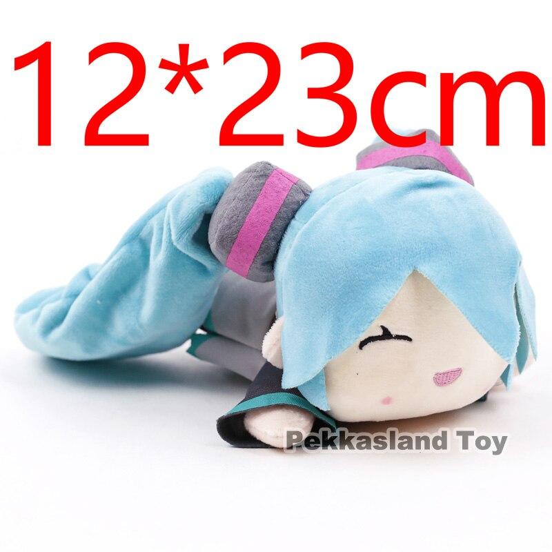 Anime Cartoon Hatsune Miku Sleeping Miku Pillow Cushion Plush Toy Soft Stuffed Doll hatsune miku winter plush doll