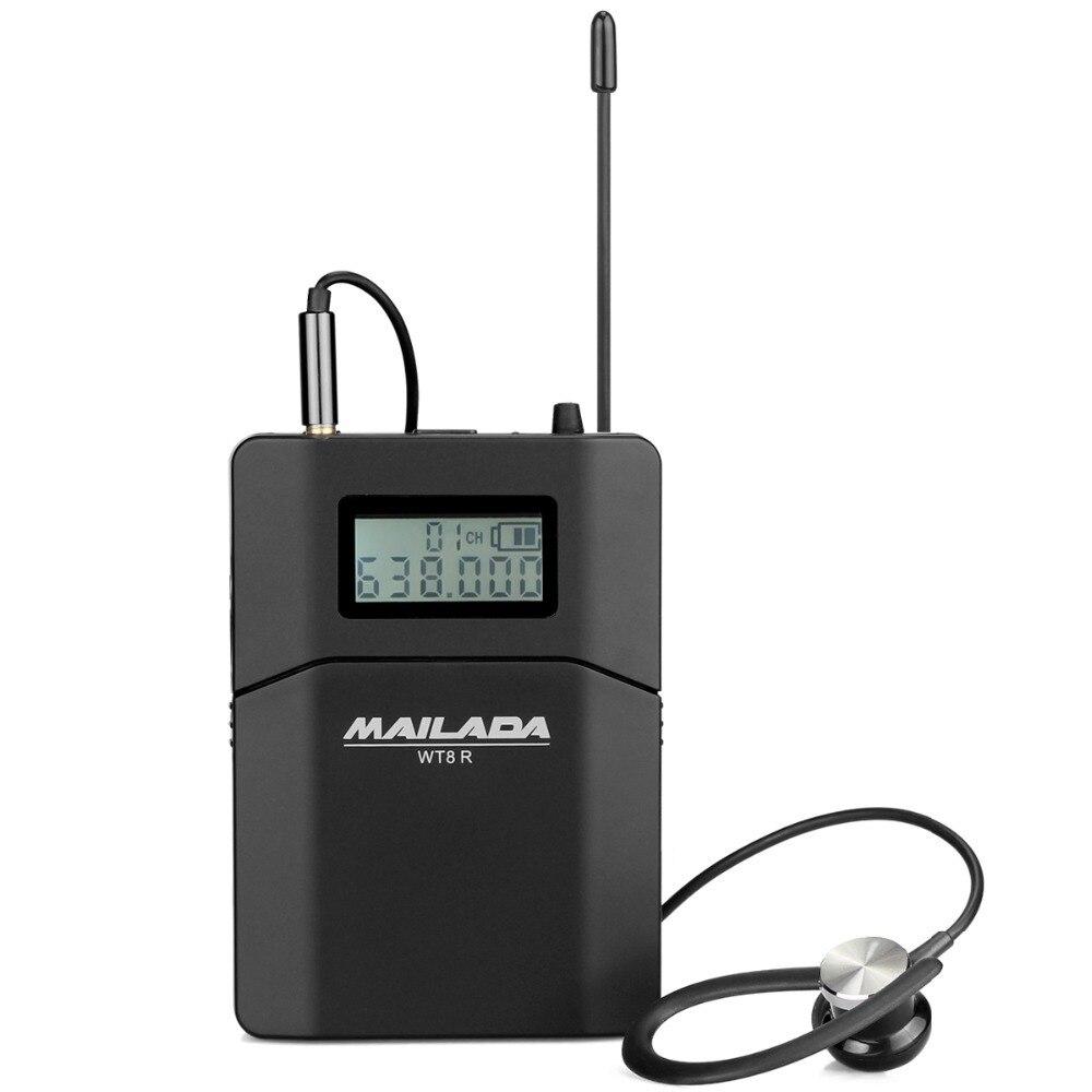 MAILADA WT8-R Ricevitore Wireless UHF sistema di Guida per la Chiesa Insegnare Traduzione Da Viaggio di Interpretazione Simultanea F1433