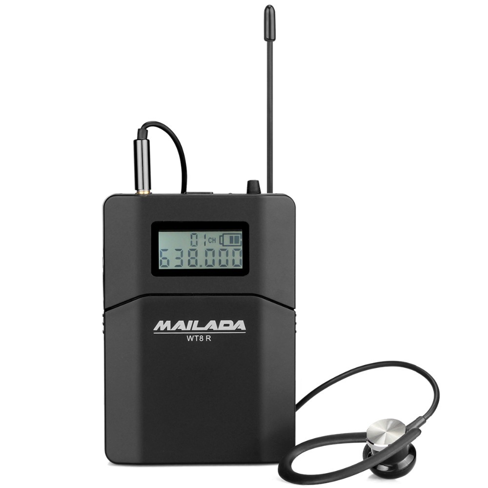 цены MAILADA WT8-R Wireless Receiver UHF Tour Guide system for Church Translation Teaching Travel Simultaneous Interpretation F1433