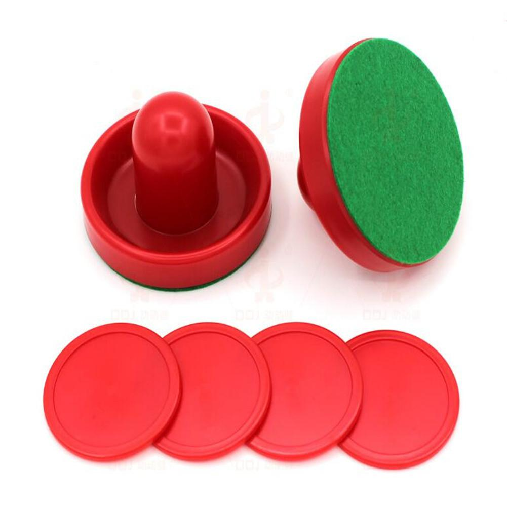 Mounchain Indoor 76mm Air Hockey Table Felt Pusher Set Hockey Pucks Accessory