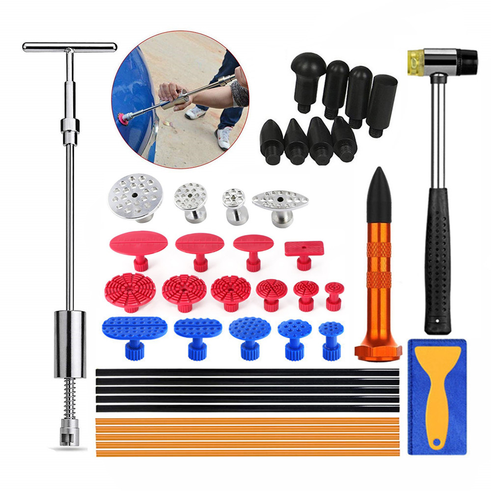 PDR Tools Instruments for Car Dent Repair Paintless Damage Removal Glue Puller Tabs Slide Hammer Hand