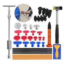 PDR инструменты Инструменты для автомобиля дент ремонт Paintless повреждения удаления клей Puller Tabs слайд молоток ручной комплект для ремонта вмятины